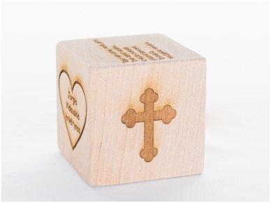 Personalized christening block 3