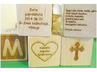 Personalized christening block 9