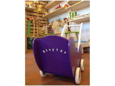 Medinis lėlių vežimėlis 18