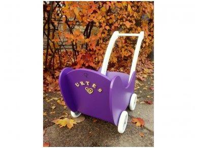 Medinis lėlių vežimėlis 6