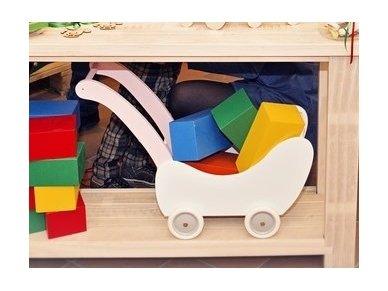 Medinis lėlių vežimėlis 22