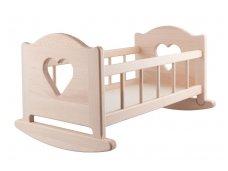 Linguojama lėlių lova ''Širdelės''