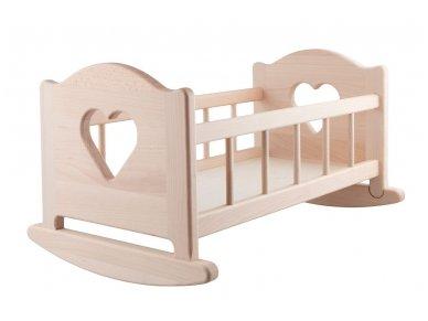 Linguojama lėlių lova ''Širdelės'' 2