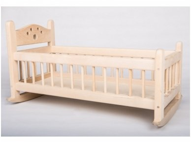 Nedažyta lėlių lova 2