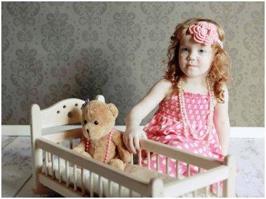Nedažyta lėlių lova 3