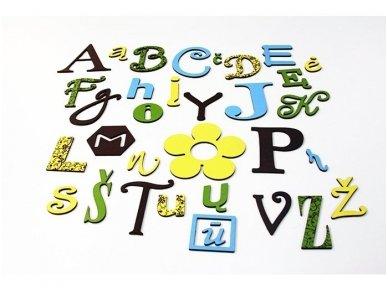 Linksmoji abėcėlė – Gamtos spalvos 2