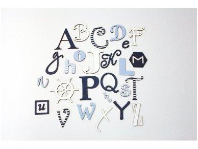 Linksmoji angliška abėcėlė-Jūros spalvos 2