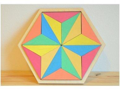 Loginis žaidimas šešiakampė tangrama 4