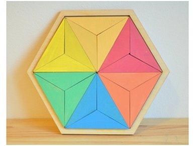Loginis žaidimas šešiakampė tangrama 5