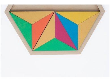 Loginis žaidimas šešiakampė tangrama 3