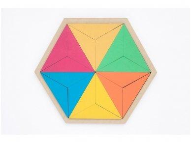 Loginis žaidimas šešiakampė tangrama