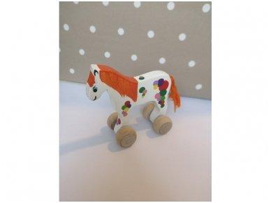 """Mažas arkliukas su ratukais """"Baltas burbuliukas"""" 2"""