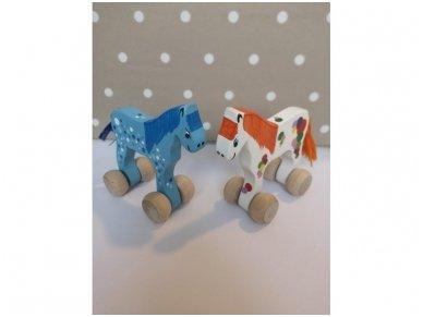 """Mažas arkliukas su ratukais """"Mėlynas Burbuliukas"""" 3"""