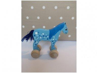 """Mažas arkliukas su ratukais """"Mėlynas Burbuliukas"""""""