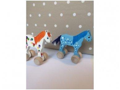 """Mažas arkliukas su ratukais """"Mėlynas Burbuliukas"""" 4"""