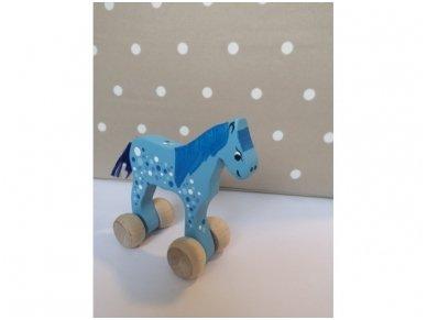 """Mažas arkliukas su ratukais """"Mėlynas Burbuliukas"""" 2"""