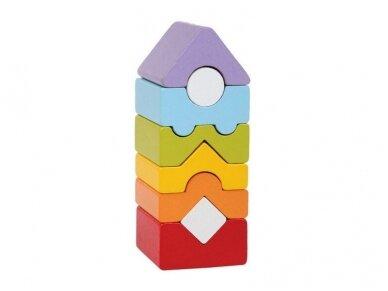 Mažas spalvotas bokštas
