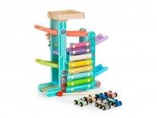 Medinė lenktynių rampa - muzikinis instrumentas