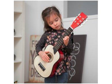 Medinė akustinė gitara 3