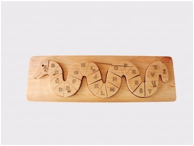 Wooden Puzzle ''Alphabetic Snake''