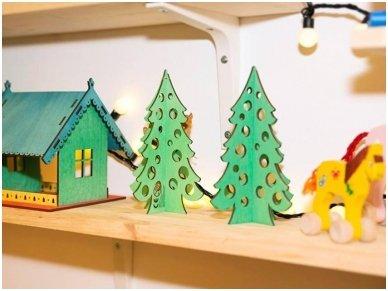 Medinė kalėdų eglė 2