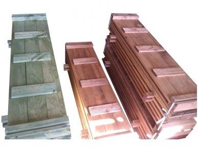 Medinė smėlio dėžė su dangčiu 1,5 x 2,5 m 4