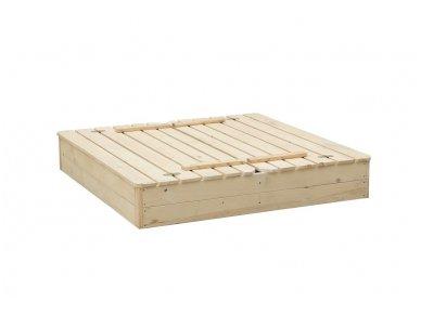 Medinė smėlio dėžė su dangčiu 3