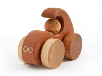 Wooden Sports Car (brown) 2