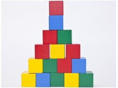 Medinės kvadratinės kaladėlės 4