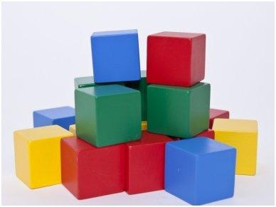 Medinės kvadratinės kaladėlės 3