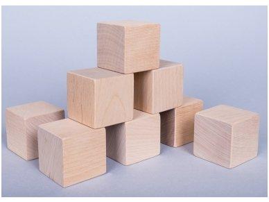 Medinių kaladėlių rinkinys 4