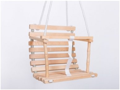 Wooden swing for baby
