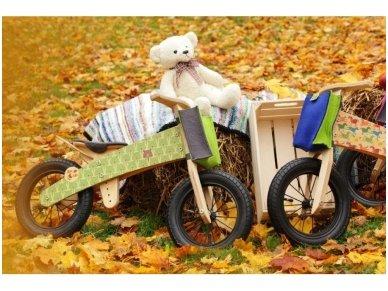 "Wooden balance bike ""Green bears"" 2"