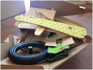 "Wooden balance bike ""Green bears"" 11"