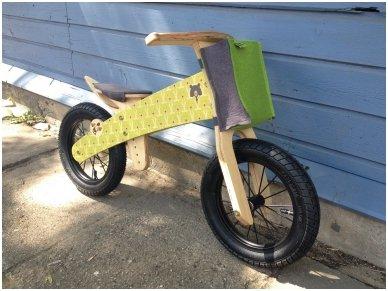 "Wooden balance bike ""Green bears"" 12"
