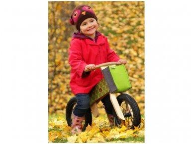 "Wooden balance bike ""Green bears"" 3"