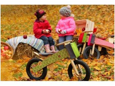 "Wooden balance bike ""Green bears"" 4"