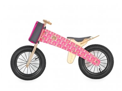 "Wooden balance bike ""Pink bears"""