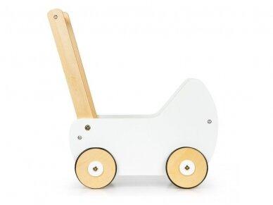Medinis baltas vežimėlis 3