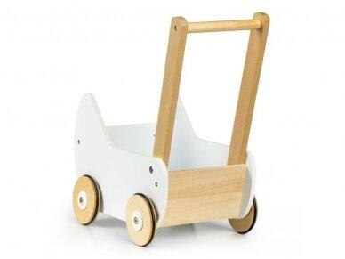Medinis baltas vežimėlis 4