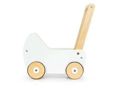 Medinis baltas vežimėlis 2