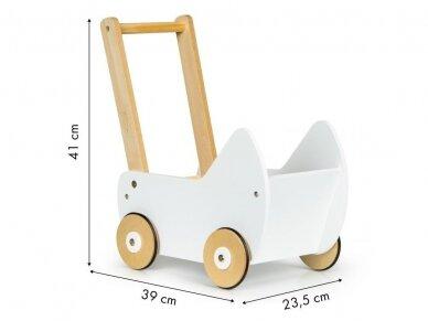 Medinis baltas vežimėlis 5