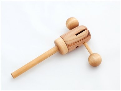 Wooden music rattle