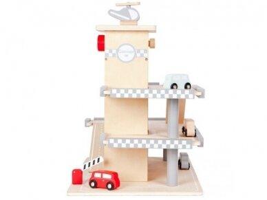 Medinis garažas su mašinėlėmis 6