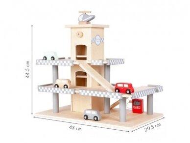 Medinis garažas su mašinėlėmis 7