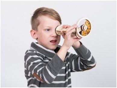Medinis kaleidoskopas su gintaru 2