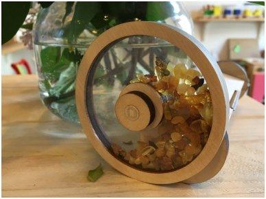Wooden kaleidoscope with amber 5