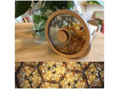 Wooden kaleidoscope with amber 6
