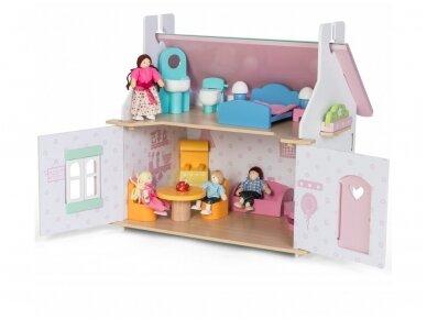 Dviejų aukštų lėlių namas 4