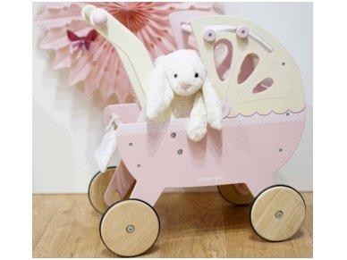 """Medinis lėlių vežimėlis """"Rožinis sapnas"""" 3"""